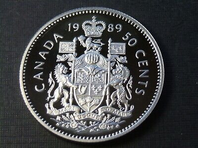 1989 50 fifty Cents Canada Proof - Heavy Cameo - From Mint Set