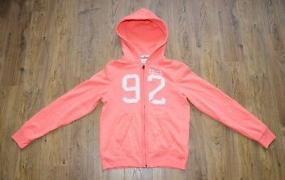 Abercrombie Kids orange coral hoodie for girl size M muscle
