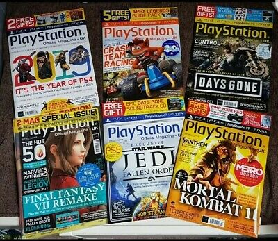 Official UK PlayStation Magazine, Issue no. 157,159,160,161,163 NEW SEALED