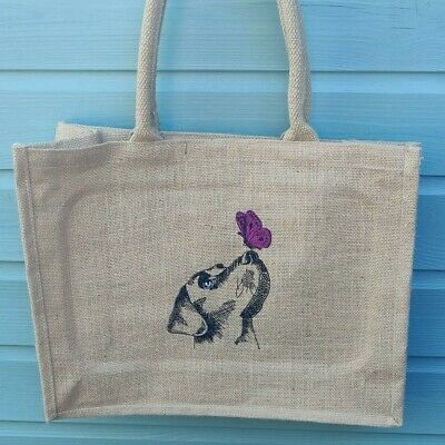 Embroidered LABRADOR Jute Bag**Various Colours**