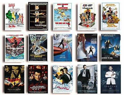 VINTAGE CLASSIC James Bond 007 Movie Posters A4 A3 Size Film Cinema Wall Decor