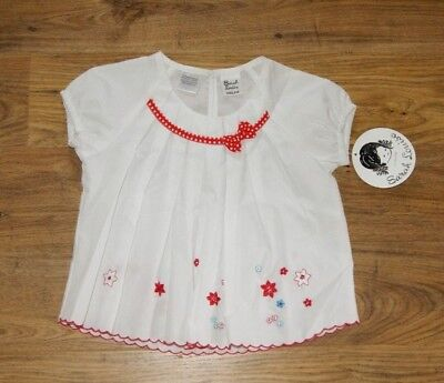 Sarah Louise white top t-shirt with flowers for girl age 3-4 year 104cm