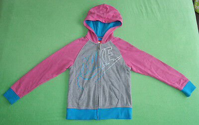 Nike pink grey blue hoodie jumper for girl size M