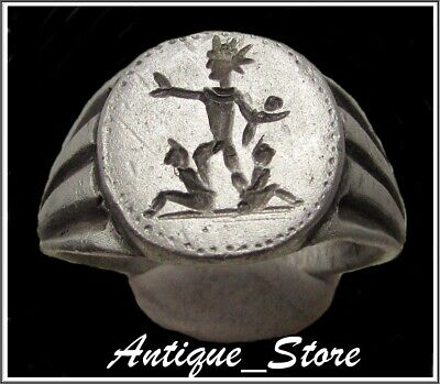 ** SOL-ORIENS  **Ancient Silver Legionary Roman Ring **AMAZING **