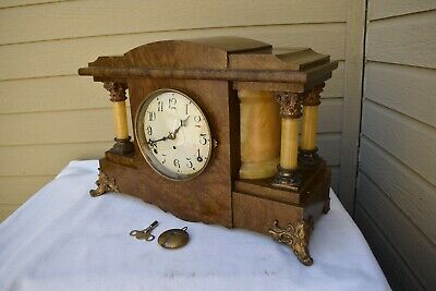 Antique Seth Thomas adamantine mantel clock Runs