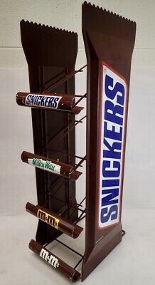 """Large Vintage Snickers 4 Tier Candy Display Retail Rack 26"""""""