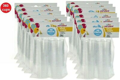 360 BPA Free Clear Plastic Party Shot Cups Mini Cup Glass Reusable 40ml