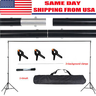 10ft Photography Background Support Stand Photo Backdrop Crossbar Kit Adjustable