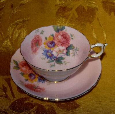 Vintage Paragon Pink Cup & Saucer Floral Rose Made In England