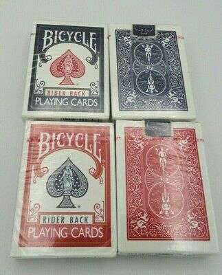 4 Decks of Bicycle 808 Rider Back Playing Cards, BLUE SEAL OHIO MADE  Blue & Red