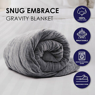 Premium Weighted Snug Ultra Soft Gravity Blanket Adults Kids Various Sizes