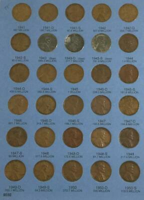 1941-1974 LINCOLN CENT Book 87 Coins All Mints And Years From 41-74