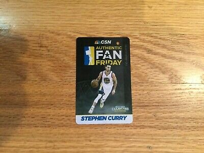 Stephen CURRY 2016 BART Ticket card Golden State Warriors Steph