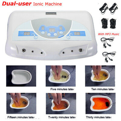 Dual User Detox Ionic Foot Bath Ion Spa Machine Cell Cleanse MP3 Arrays  new ❤
