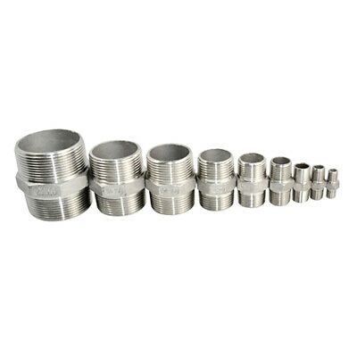 1Pc Hex Nipple Male to Male Stainless Steel SS 304 Threaded Pipe Fitting NPT