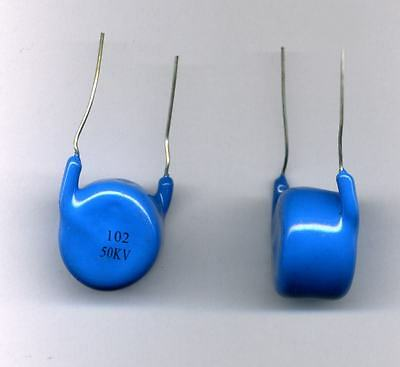 2 x VERY HIGH VOLTAGE CAPACITORS  1nF - 50 kV