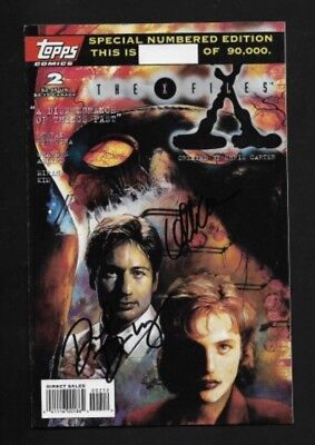 XFILES SIGNED TOPPS 2 COMIC - A Dismembrance Of Things Past - Rare !!