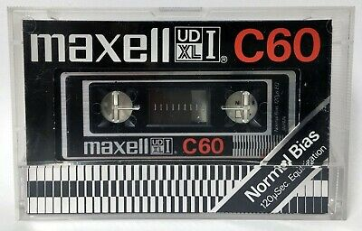 MAXELL UD XL I C60 BLANK AUDIO CASSETTE TAPE NEW RARE 1977 YEAR JAPAN MADE ver.1