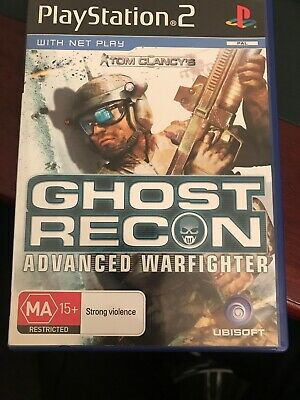 Tom Clancys Ghost Recon Advanced Warfighter PS2 Game USED