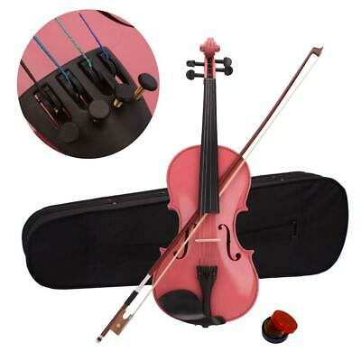 4/4 Full Size Students Acoustic Violin Set Fiddle with Case Bow Rosin Pink