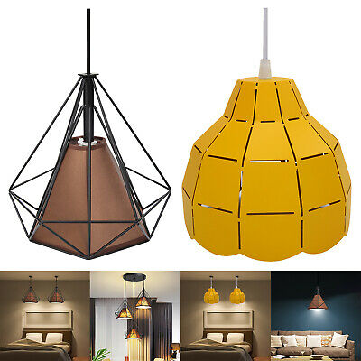 E27 Nordic Modern LED Wrought Iron Chandelier Ceiling Hanging Lamp Home Ligh #SN