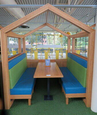 Table Bench Restaurant Cafe Booth Dining 6 seat Seating Area Pub Bar