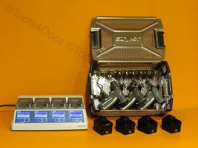 Stryker System 7 3-Hand-piece set w/Battery charger, batteries & attachments