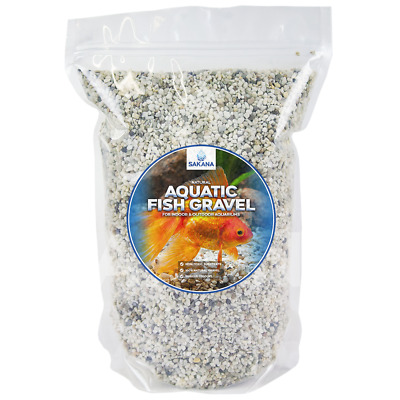 Sakana Natural Nordic Aquatic Fish Gravel - Premium Pond Tank Décor Substrate