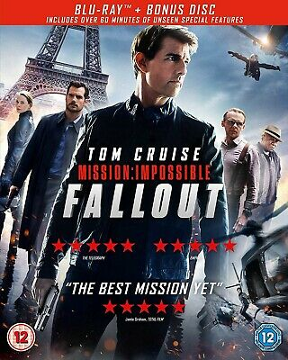 Mission: Impossible - Fallout (Includes Bonus Disc) [Blu-ray] WATCHED ONCE ONLY