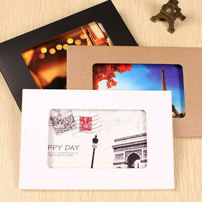Kraft Paper Colorful Favor Box Window for Envelope Postcards Photo Picture Pack