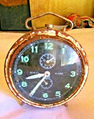 Vintage Alarm Clock Very Rare Made In Germany Super Antique Alarm, Good Working