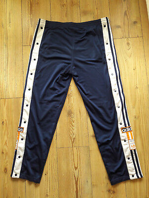 Retro Vintage Adidas Poppers D4 GB30 US S F168 Tracksuit Trousers/Bottoms 80/90s