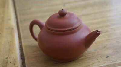 Yixing chinese Miniature pottery tea pot signed/impressed seal stamp