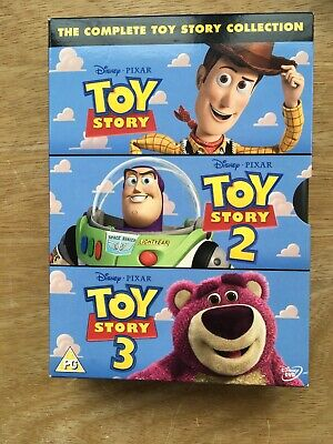TOY STORY 1-3 - Collection (DVD, 2010, 3-Disc Set, Box Set) BRAND NEW