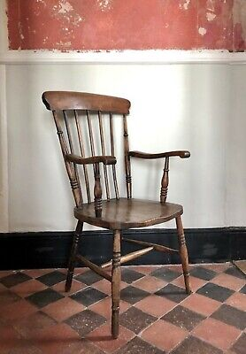 Antique Grandfather Stick-Back Windsor Chair circa 1860 - 1890
