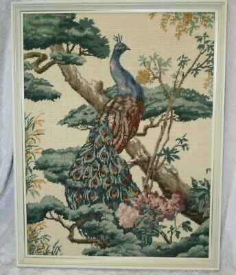 Vintage Large Hand Sewn Tapestry/Cross Stitch and Needlepoint Framed Picture.
