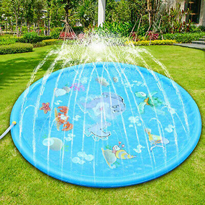 "67"" Kids Child Summer Splash Play Mat Cusion Inflatable Sprinkler Water Mat Toy"