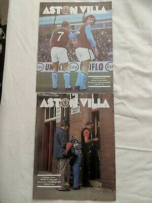 Aston Villa Vs Derby County And Qpr Programmes 1977