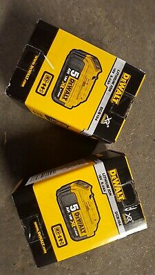 Véritable batterie Dewalt Dcb184 18v XR Lithium-ion 5,0 Ah 90wh Pile lot x2