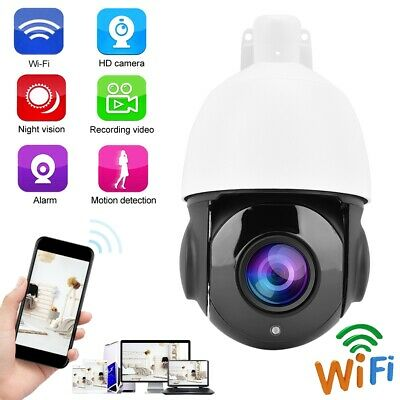 Telecamera IP Camera Esterno 30X Zoom 2MP HD Wifi Wireless IR PTZ IP66 Dome