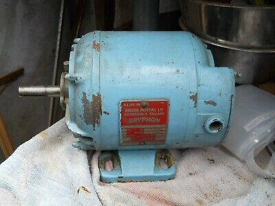 Three phase Half horse Power electric motor. Good condition.