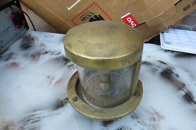 VINTAGE ausco MKII ship marine BOAT LIGHT lamp nautical    brass