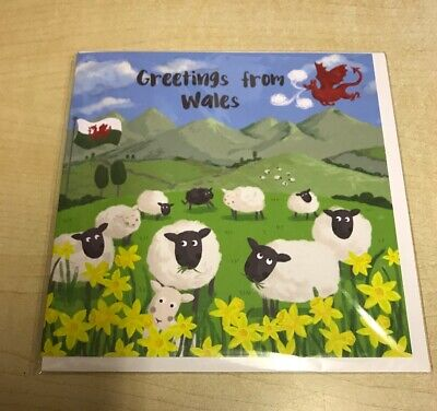 Welsh Greeting Card - Greetings From Wales