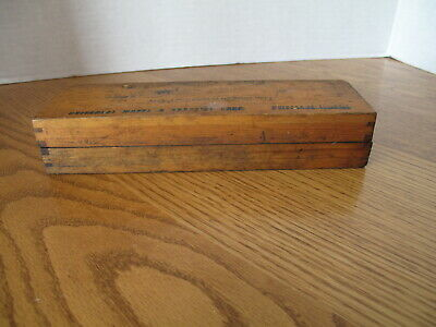 Antique Oil Hone Razor Sharpening Stone Vintage w/ Wood Case