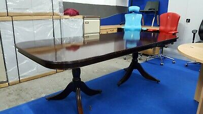 Dining Table with Ball and Claw pedestal bases complete with glass top