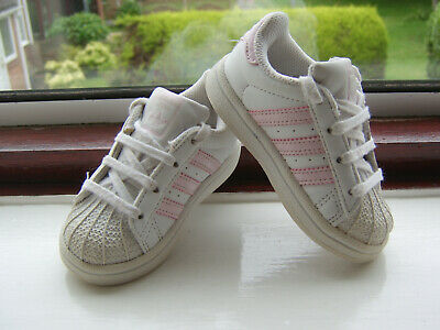 best service 3f894 a6d11 PAIR OF INFANT Girls White Adidas