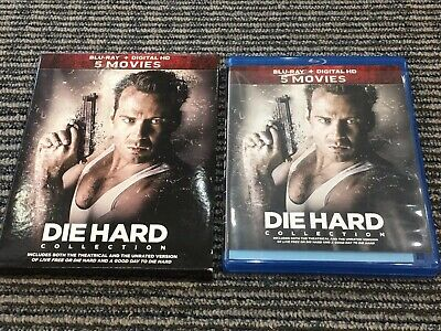 Die Hard 5 Movies Collection 1 2 3 4 5 Blu-Ray Set Bruce Willis W/ Slip Cover