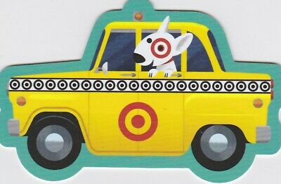Target Bullseye the Dog New York NYC Taxi Cab Die-Cut 2019 Gift Card 790-01-2640