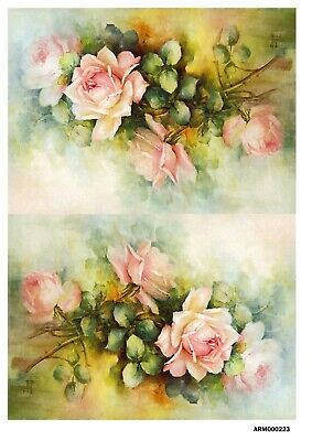 Rice paper decoupage 160377 napkin vintage roses Bijou-Master supplies craft