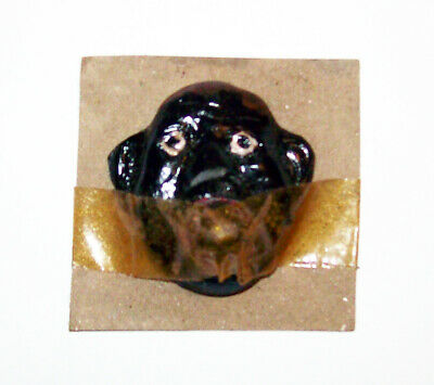 Vintage Black Americana Sam** Brass Ball In Mouth Carded Puzzle Game Collectible